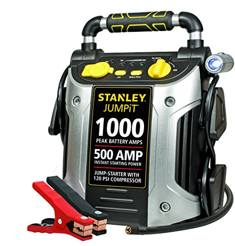 STANLEY J5C09 JUMPiT Portable Power Station Jump Starter: 1000 Peak/500 Instant Amps, 120 PSI Air...