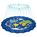 MAGIFIRE Splash Pad, Sprinkler for Kids & Baby Pool 3-in-1 67' Water Toys Gifts for 1 2 3 4 5 Year Old Boys Girls Toddler Splash Play Mat(Map)