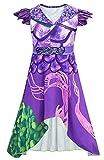Riekinc Dragon Mal Dress Girls Popular Musical Costume Kids 130 Purple
