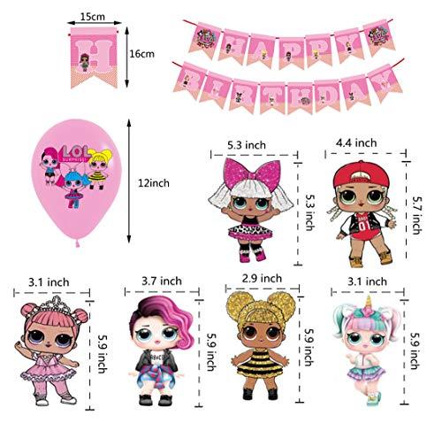Image 1 - smileh Lol Anniversaire Décoration Lol Ballon Bannière de Joyeux Anniversaire de Lol Tourbillons Suspendus de Lol Surprise Dolls pour Fête d'anniversaire ou Fête d'anniversaire