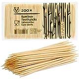 Zahnstocher Holz: 200x Premium Bambus Zahnstocher für schonende Zahnpflege – Holz Zahnstocher aus Bambus für Zahnhygiene und zum Basteln – Zahnhoelzer Holz rund – Nützliche Haushaltshelfer von LIVAIA