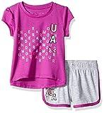 Under Armour Baby Girls Bodysuit OR Infant Tee/Tank Short Sets, Strobe-S19, 3-6 Months