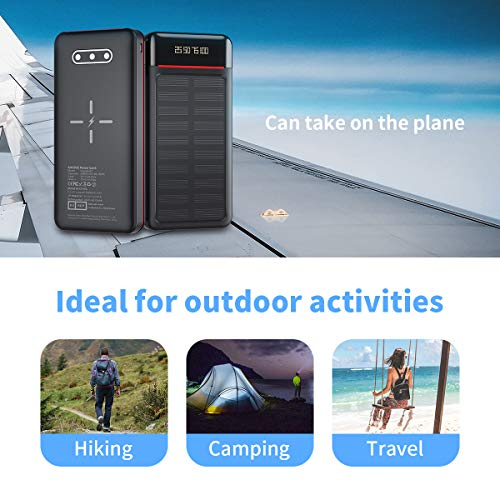Aikove-Wireless-Power-Bank-26800mAh-Portable-Solar-Charger-with-2-InputsUSB-CMicro-and-3-Outputs-LCDLED-Lights-Huge-Capacity-External-Battery-Pack-Compatible-for-Smartphones-Tablets-and-More