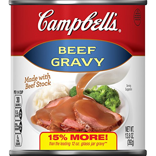 Campbell's Gravy, Beef, 13.8 oz. Can (Pack of 12)