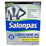 Salonpas Lidocaine 4% Pain Relieving Maximum Strength Gel-Patch 6ct (Pack of 2)
