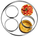 NewlineNY Stainless Steel 5 Pcs double rolled edges Circular Round Tart Rings, Molding, Plating, Set of 5 : 1 x (28cm 11') + 4 x (10cm 4') x (2.2cm 0.85' H)