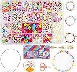 Ucradle Bricolage Perles Set, 550pcs Bracelet Bricolage Enfant...