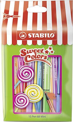 Stabilo 668/15-051 Pen 68 Mini Sweet Colors Penna, 15 Pezzi