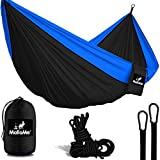MalloMe Camping Hammock With Ropes - Double & Single Tree Hamock Outdoor Indoor 2 Person Tree Beach Accessories _ Backpacking Travel Equipment Kids Max 1000 lbs Breaking Capacity - Two Carabiners Free