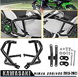 LoraBaber オートバイNinja400 Ninja250 18 19 20 21 エンジンタンクプロテクションバーガードクラッシュバーフレームバンパー 適用車種 Kawasaki Ninja 400 Ninja 250 2018 2019 2020 2021