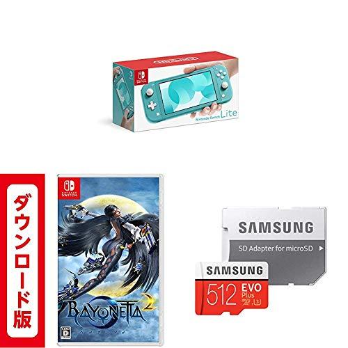 Nintendo Switch Lite ターコイズ + ベヨネッタ2|オンラインコード版 + 【Amazon.co.jp 限定】Samsung micr...