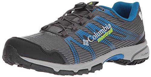 Columbia Men's Mountain Masochist IV Outdry Trail Running Shoe, ti Grey Steel, Bright Green, 12 D US