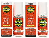 Hemp Oil 2-Pack Uncle Bud's Topical Roll On Pain Reliever, Hemp Oil for Pain Reduction, Stress Support, Achy Muscle Relief, Fast Acting, Anti Inflammatory