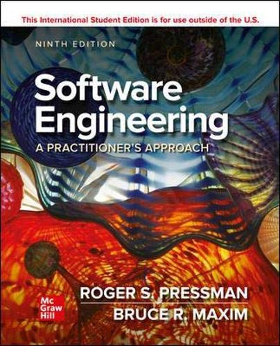 Software Engineering: A Practitioner's Approach, 9th Edition Front Cover