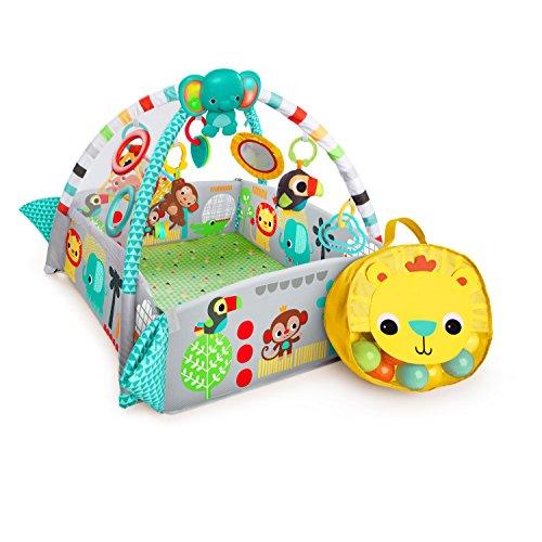 Bright Starts 10754, Palestrina Multifunzione 5-in-1 per Neonati e Bambini Your Way Ball Play™  con 35 palline colorate, 12 giocattoli, luci & musica, cuscino ergonomico, Tappetino di 1,22 m
