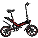 Electric Bicycle, Sailnovo 14'' Electric Bike for Adults and Teenagers with 18.6MPH 28 Miles Folding Electric Bike with Removable 36V 10.4Ah Lithium-Ion Battery Throttle & Pedal Assist