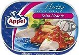 Appel Heringsfilets Salsa-Picante, 10er Pack Konserven, Fisch in pikantem Tomaten-Cocktail