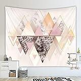 LZYMLG Tapiz de Cubo geométrico nórdico Fondo Colgante de Pared Sala de Estar Dormitorio tapices Decorativos para habitación de niños Gt101010 150 * 130CM