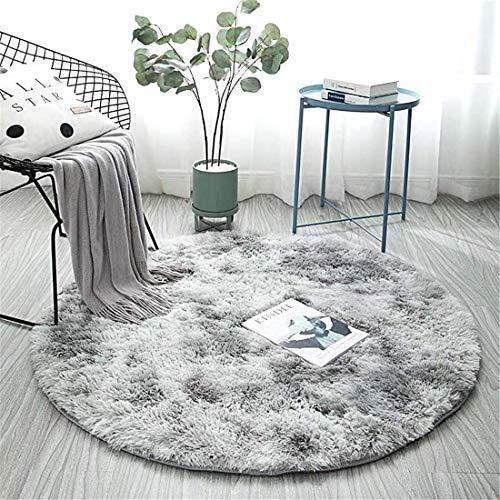 TYUEMAO Tappeti antiscivolo, pu essere utilizzato come tappetino da yoga su tappeto, tappeto morbido e soffice, tappeto per bambini,Tappeti per sedie(grigio chiaro, 80_cm)