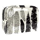 Bolsa de maquillaje portátil con cremallera bolsa de aseo de viaje para las mujeres práctico almacenamiento bolsa de cosméticos luz como una pluma