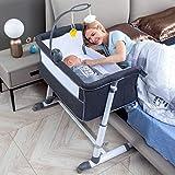 RONBEI Bassinet,Bassinet for Baby,Bedside Crib,Baby Bassinets Bedside Sleeper for Newborn Infant| Built-in Wheels