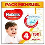 Huggies - Ultra Comfort - Couches Bébé Unisexe - Taille 4 (7-18 kg) x150...