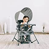 Baby Delight Go with Me Venture Chair Indoor/Outdoor Portable Chair with Sun Canopy Gray 3 Child...