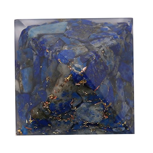 Aatm Energy Generator Lapis Lazuli Orgone Pyramid for EMF Protection Chakra Healing Meditation (1 and 1 Inches)