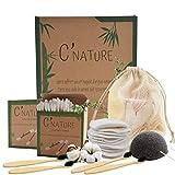 C'Nature coton démaquillant bambou réutilisable, lingette démaquillante et bébé lavable.Lot...