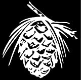5 Unids Etiqueta Engomada del Coche 17.3X17.8 CM Confera de Pino Confera Decoracin de Todo el Cuerpo Planta de Coche Vinilo Calcomana Plata