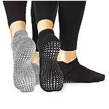 LA Active Grip Chaussettes Antidérapantes - Pour Yoga Pilates Barre Ballet...