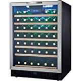 Danby DWC508BLS 50 Bottle Designer Wine Cooler - Black/Stainless