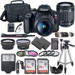 Tech :  Ensemble d'appareil photo reflex numérique Canon EOS Rebel T7 avec objectif Canon EF-S 18-55 mm f / 3,5-5,6 is II + 2 cartes mémoire SanDisk 32 Go + kit d'accessoires  , avis