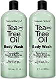 Natural Riches Extra Strength Tea Tree Oil Skin Clearing Body Wash Hand Wash Peppermint Eucalyptus Oil Soap by Natural Riches - Helps with Skin and Hair - Pack of 2-12 Fl Oz