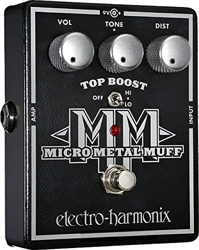 Electro Harmonix Micro Metal Muff Pedal for Electric Guitar Silver