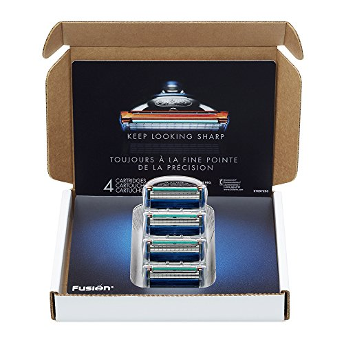 Gillette Fusion Manual Men's Razor Blade Refills, 4 Count, Mens Razors / Blades