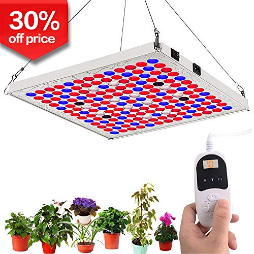 【$20.99 Price】LED Grow Lights for Indoor Plants with Timer, TOPLANET 75W Full Spectrum Plant Growing Lamp with IR Bulbs for Hydroponics Grow Box Greenhouse Veg and Flowers Seedlings Bloom