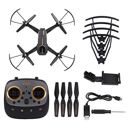 Asixx Quadricottero RC, VISUO XS812 GPS 5G Telecamera WiFi Pieghevole Pieghevole LED 2.4GHz Quadricottero a 4 canali per Adulti, modalit Follow Me, modalit Senza Testa(5MP)