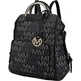MKF Collection by Mia K. Farrow Lora M Signature Trendy Backpack (Black)