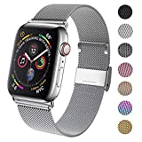 GBPOOT Compatible for Apple Watch Band 38mm 40mm 42mm 44mm, Wristband Loop Replacement Band for Iwatch Series 5,Series 4,Series 3,Series 2,Series 1,Silver,38mm/40mm