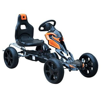 HOMCOM Kids Ride On Pedal Go Kart Indoor Outdoor Sports Toy Braking System