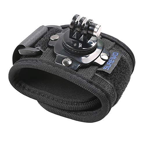 SUREWO - Supporto per cinturino da polso compatibile con GoPro Hero 8/7/(2018)/6/5 nero, DJI Osmo Action, Insta360 ONE R, APEMAN/Crosstour/AKASO/Campark e altro ancora