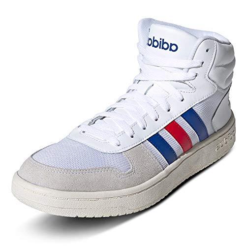 adidas(アディダス) HOOPS 2.0 MID (FW8252)フットウェアホワイト/カレッジロイヤル/スカーレット トレーニングシューズ(FW8252) FW8252 220