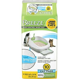 Purina-Tidy-Cats-Cat-Pads-BREEZE-Spring-Clean-Fragranced-Refill-Pack-6-10-ct-Pouches