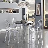 Across-EU Shop Lot de 2 Ghost Chaises en Acrylique Polycarbonate pour Salle...