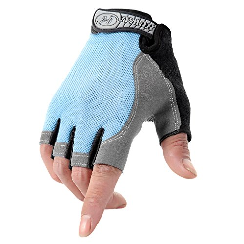 Unisex Bicycle Cycling Gloves Women Men Sports Gym Fitness Workout Exercise Quick Dry Fingerless Gloves Non-slip Shockproof Gel Pad Breathable Motorcycle Mountain Bike Riding Half Finger Biking Gloves, Black, Style #2, Medium