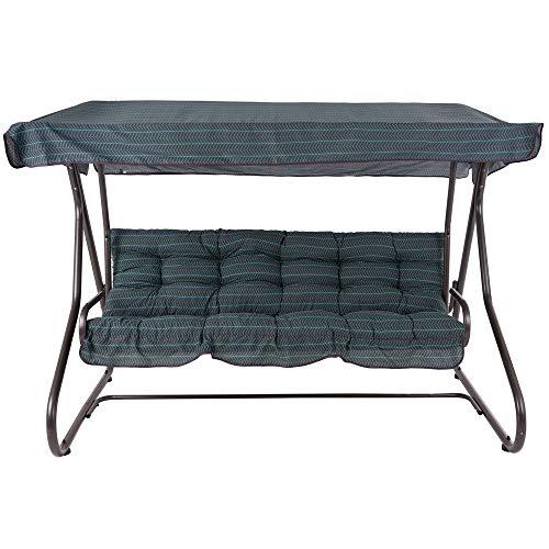 PATIO 3-Sitzer Hollywoodschaukel Milano 170 cm Gartenschaukel Sonnendach Sitzpolster Klappbar Liegefunktion H021-06PB