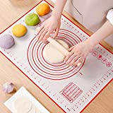 Silicone Pastry Mat, Non Stick Large Baking Mats with Measurements, Dough Rolling Mat, Fondant Mat, Oven Liner for Pie Crust, Pizza and Cookies (16' x 24')