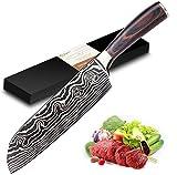 Joyspot Couteau de Cuisines, Couteau Japonais Santoku,17cm...