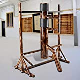 Flex HQ Adjustable Height Wing Chun Dummy Mook Yan Jong IP Man Training Target Wood with Frame Stand